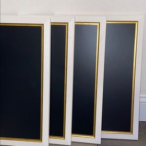 Gold & White Chalkboards (FOUR)